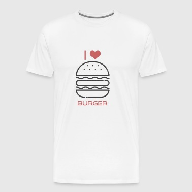 Burger - I love Burger - BBQ Barbecue Grill Fun - Männer Premium T-Shirt