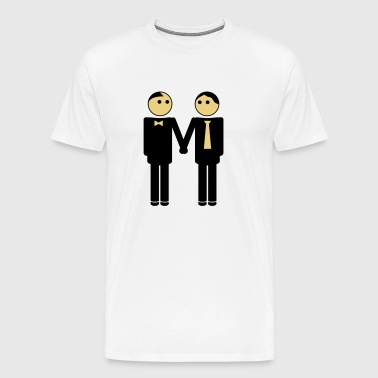 gay couple / gay couple hand in hand 2c - Men's Premium T-Shirt