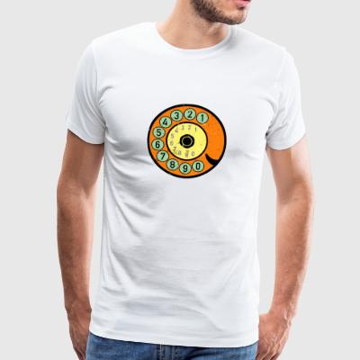 colorful dial vintage retro telephone nostalgia - Men's Premium T-Shirt