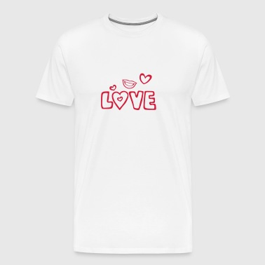 Love lips heart kiss - Men's Premium T-Shirt