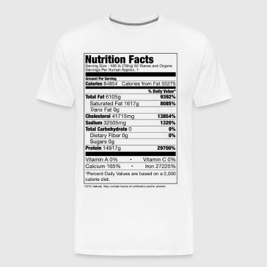 Human Nutrition Facts - Mannen Premium T-shirt