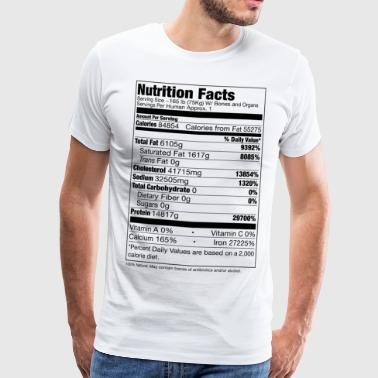 Human Nutrition Facts - Männer Premium T-Shirt