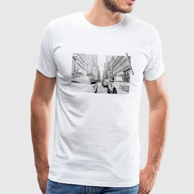 New York tegning - Herre premium T-shirt