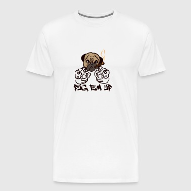 DOGS | PUG EM UP - Men's Premium T-Shirt