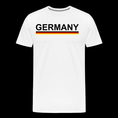 World Cup European Football Championship Germany with flag - Men's Premium T-Shirt