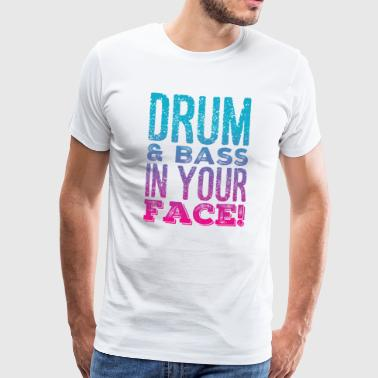 DRUM AND BASS - Männer Premium T-Shirt