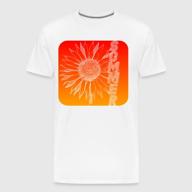 Sunny summer design with sunflower - Men's Premium T-Shirt