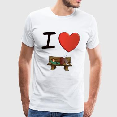 I Love lounging - Men's Premium T-Shirt