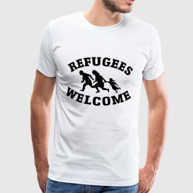 Refugees Welcome - T-shirt Premium Homme