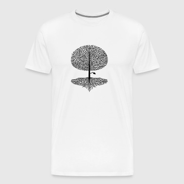 Deciduous tree crown forest oak beech tree nature linden tree branches - Men's Premium T-Shirt