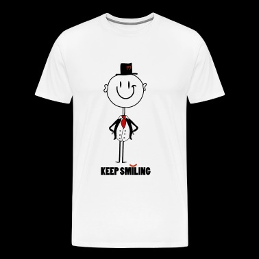 keep smiling - Men's Premium T-Shirt