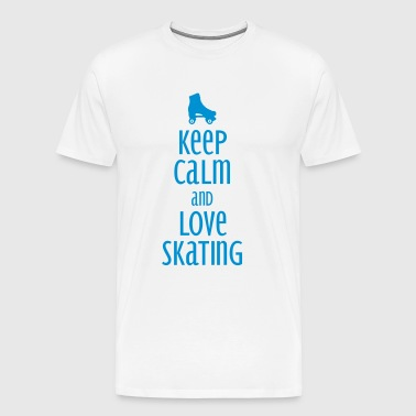 keep calm and love skating - Men's Premium T-Shirt