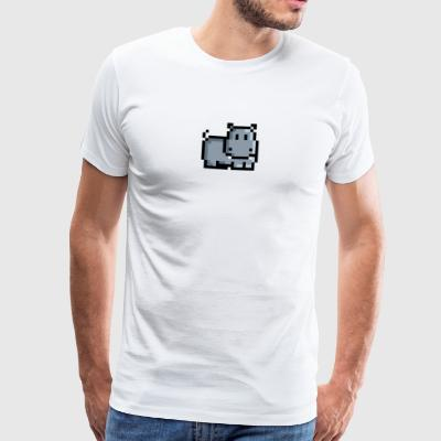 Retro Hippo - Men's Premium T-Shirt
