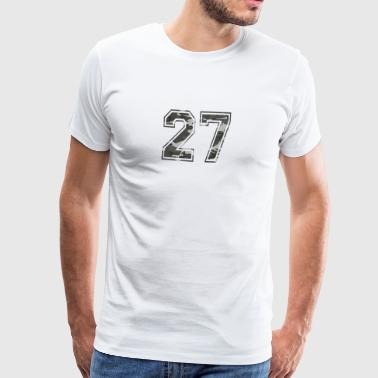 Numbers Camouflage Paintball Bundeswehr 27 - Men's Premium T-Shirt