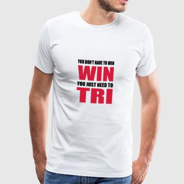 Triathlon - Premium T-skjorte for menn