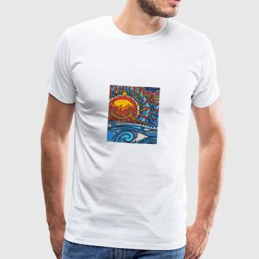 Sunset - Premium-T-shirt herr