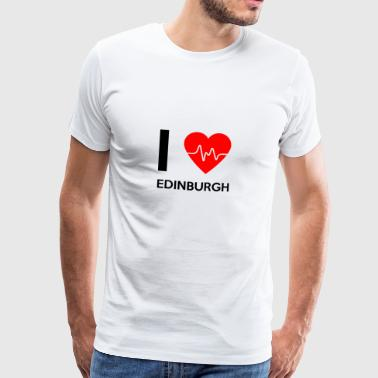 J'aime Edinburgh - I love Edinburgh - T-shirt Premium Homme