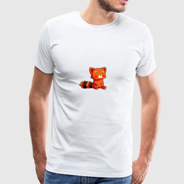 Orange racoon - Men's Premium T-Shirt