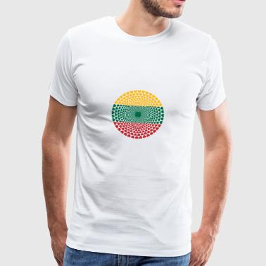 LITHUANIA Lithuania Lietuva Love HEART Mandala - Men's Premium T-Shirt