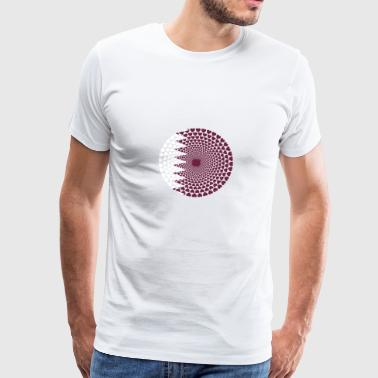 Qatar Qatar قطر HEARTLOVE Mandala - Men's Premium T-Shirt