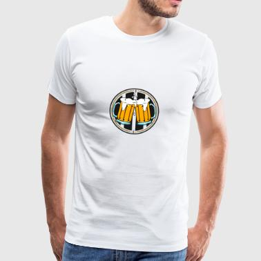 Beer mug logo - Men's Premium T-Shirt