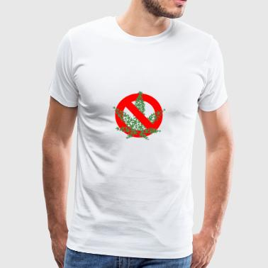 NO CANNABIS - Premium T-skjorte for menn