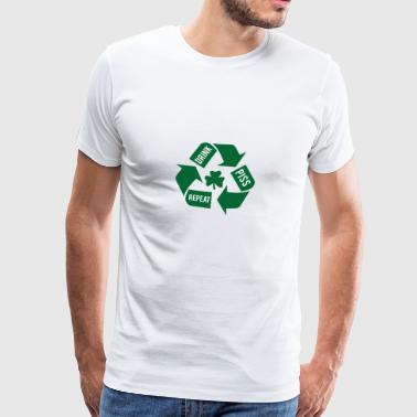 Ireland / St. Patrick's Day: Drink - Piss - Repeat - Men's Premium T-Shirt