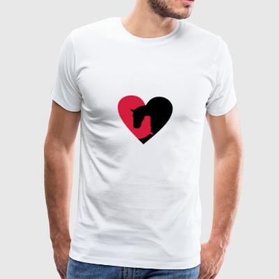 6061912 121499162 HORSE HEART - Premium T-skjorte for menn