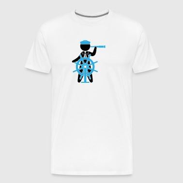 A Sailor Controls The Rudder Of A Ship - Men's Premium T-Shirt