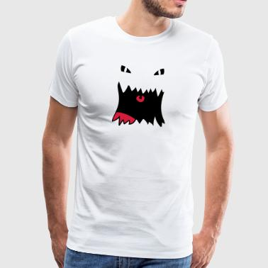 Monster Face - Herre premium T-shirt