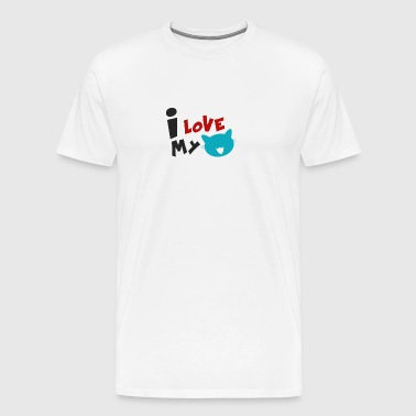 CAT | I LOVE MY CAT - Men's Premium T-Shirt
