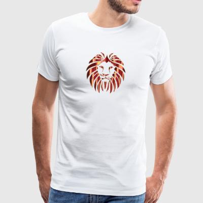 Leo Shiny, Lion's Head - Mannen Premium T-shirt