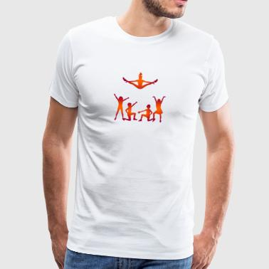 A Group Of Cheerleaders - Men's Premium T-Shirt