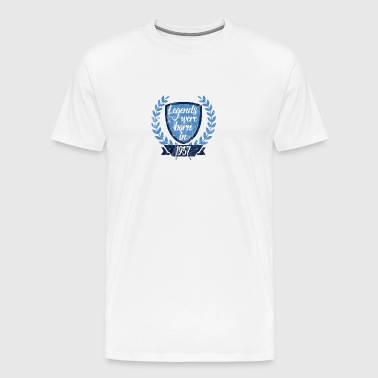 Legends were born in 1957 - Legenden 1957 geboren - Männer Premium T-Shirt