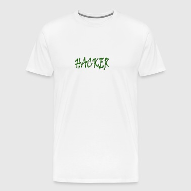 hacker Green - Mannen Premium T-shirt