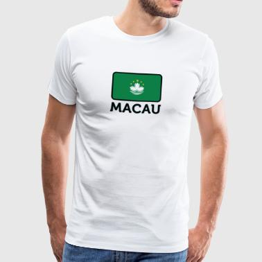 National Flag Of Macau - Premium-T-shirt herr