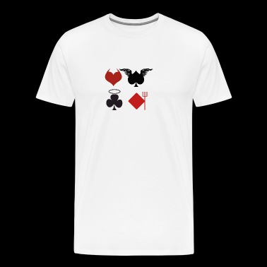 Poker Black Jack Ass Devil Devil Ange Carte Casino - T-shirt Premium Homme