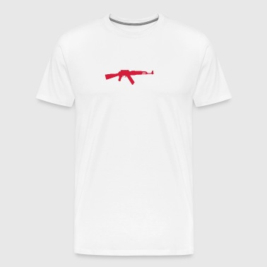 AK-47 Assault Rifle - Premium T-skjorte for menn