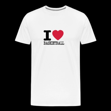 I love basketball / I love basketball - Men's Premium T-Shirt