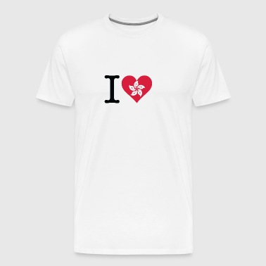I Love Hong Kong - Men's Premium T-Shirt