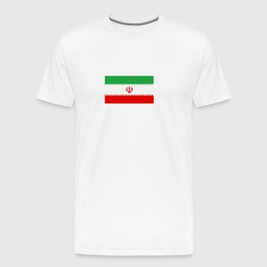 National Flag Of Iran - Premium-T-shirt herr