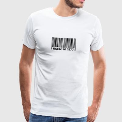 born barcode in 1977 40th birthday 40th birthday - Men's Premium T-Shirt