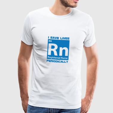 Nurse: I save lives, periodically - Men's Premium T-Shirt