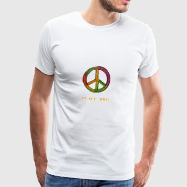 PEACE sign - PEACE BRO - Men's Premium T-Shirt