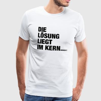 De oplossing is in de kern - Mannen Premium T-shirt
