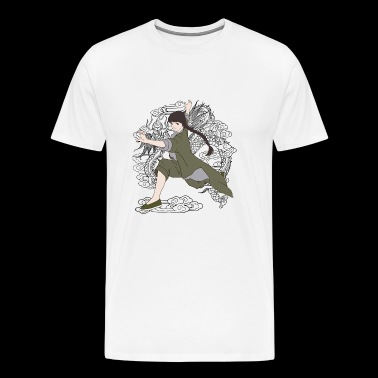 Kung Fu fille - T-shirt Premium Homme