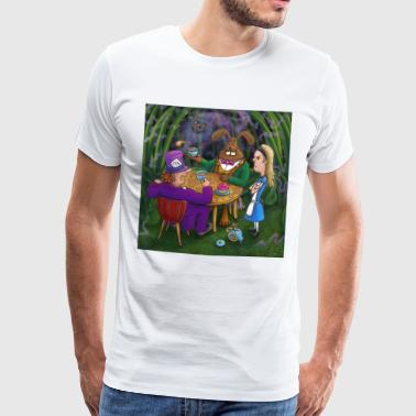 alice in wonderland tea pary - Men's Premium T-Shirt