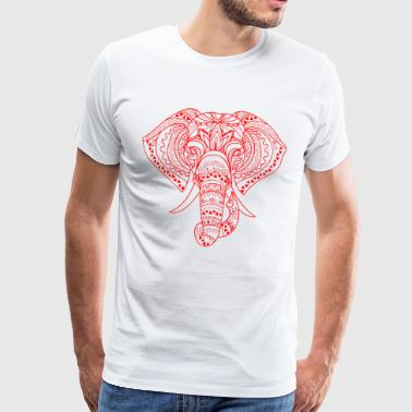 ELEPHANT HEAD red - Men's Premium T-Shirt