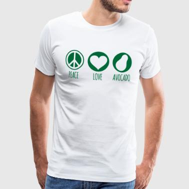Peace Love Avocado Grønn - Premium T-skjorte for menn