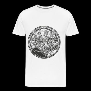 Odin with his ravens - Men's Premium T-Shirt